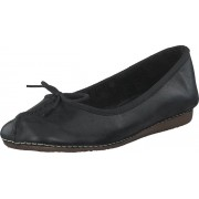 Clarks Freckle Ice Black Leather, Skor, Lågskor, Ballerinor, Svart, Dam, 41