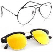 Phenomenal Aviator, Clubmaster Sunglasses(Clear, Yellow)