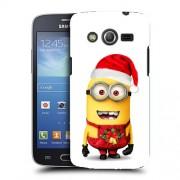 Husa Samsung Galaxy Core 4G LTE G386F Silicon Gel Tpu Model Craciun Minion Christmas
