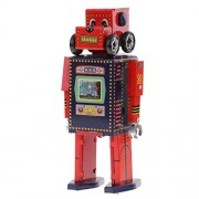C2K Retro Wind Up Walking Search & Rescue Robot Clockwork Mechanical Tin Toys