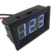 Voltmeter Modrý 4.5V-30V