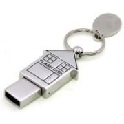 KBR PRODUCT TECHNOCRAFT ATTRACTIVE HUT SHAPE KEYRING DESIGN 4 GB Pen Drive(Silver)