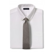 ランズエンド LANDS' END メンズ・シルク・メランジ・ハウンズトゥース・タイ/ネクタイ(ドライオリーブハウンズトゥース)