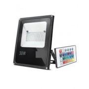Refletor LED 30W RGB C/ Controle Remoto