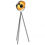 vidaXL Stojeća svjetiljka E27 crno-zlatna 31 cm