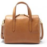 Fossil Women Brown Genuine Leather Satchel