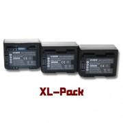 vhbw 3x batterie Set 1600mAh (3.6V) pour caméra Canon Legria HF R706, Legria HF R76, Legria HF R78 comme BP-718.