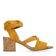 SPM for Sacha Okergele sandalen met blokhak