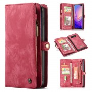 Bolsa Multifuncional Caseme 2-em-1 para Samsung Galaxy S10+ - Vermelho
