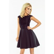 Dámské černé plesové šaty 157-2