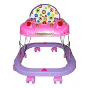 Kotak Sales Square Baby Walker Musical Stroller Cartoon Design 8 Wheels Leg Movement Drive Swing Quick Walking Playtime Activities (6+ Months) – PINK PURPLE
