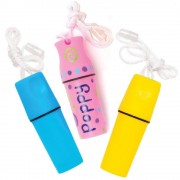 Baker Ross Money Holder Necklace - 6 Screw Top Holders In 6 Colours. Great Beach Storage For Small Belongings. Size 12cm.