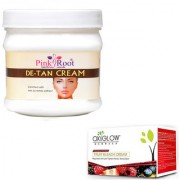 PINK ROOT DE-TAN CREAM 500GM WITH OXYGLOW FRUIT BLEACH 50GM