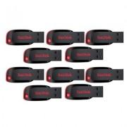 Sandisk 32GB Cruzer Blade Pen drive (Pack of 10)