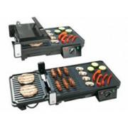 Rosenstein & Söhne Grille-viande & plancha électrique de table 2 en 1, 2000 W
