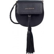 Lino Perros Women Casual Black Leatherette Sling Bag