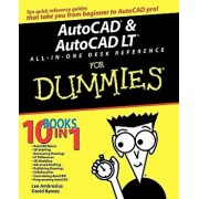 AutoCAD and AutoCAD LT All-In-One Desk Reference for Dummies, Paperback/David Byrnes