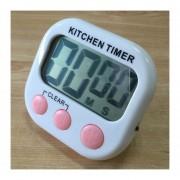 Digital Cocina Temporizador Alarma Electronica Respaldo Magnético Con Display LCD Para Cocinar, Hornear Juegos Deportivos Office (rosa)