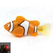 ROBO peces magicos flash Pet Fish juguete - Naranja + Negro (2 * L1154)