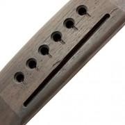 ELECTROPRIME Rosewood 6 String Saddle Through Guitar Bridge for Acoustic Folk Guitars