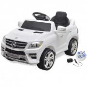 vidaXL Електрическа кола Mercedes ML350 бяла 6V с дистанционно