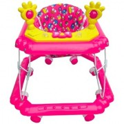 Oh Baby Baby Square Shape Pilastic Boby Pink Color Music With Light Walker For Your Kids SE-W-61