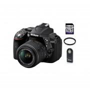 Kit Cámara Nikon D5300 Lente 18-55mm + SD 16GB + Control +Filtro UV