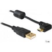 Kabel DELOCK, USB 2.0 (M) na micro USB (M) pod kutem 90°, 1m
