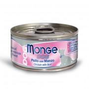 Monge Natural Superpremium Cibo Umido Monodose Per Cani 95 Gr - Pollo Con Manzo - 24 Pezzi