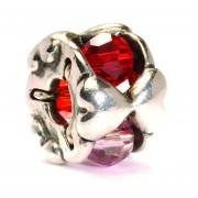 Trollbeads TAGBE-00103 Kraal Valentijn zilver/glas