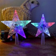 Christmas Tree Topper Star LED Light Colorful Lamp Christmas Tree Ornaments Party Home Decoration