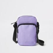 River Island Mens Purple mini cross body flight pouch (One Size)