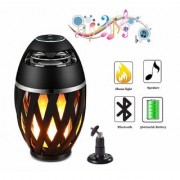 Tech Gear Led Lamp Bluetooth Speaker Flame Atmosphere Speakers Table Lamp Wireless Night Light Portable Speaker