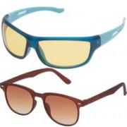 Vast Sports, Wrap-around Sunglasses(Black, Grey, Yellow)