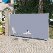 vidaXL Patio Retractable Side Awning 160 x 300 cm Grey
