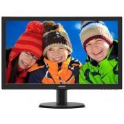 "Monitor MVA LED Philips 23.6"" 243V5QSBA, Full HD (1920 x 1080), DVI, VGA, 8 ms (Negru)"