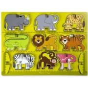 Puzzle in relief Animale de la Zoo Melissa and Doug