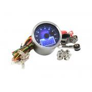 Toerenteller Oliedrukmeter Blauwe achtergrond 9000 RPM