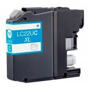 """Tinteiro Brother Compatível LC22U C XL Azul"""