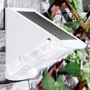 Luminea LED-Solar-Wandleuchte mit 2 LEDs und PIR-Sensor, IP44, tageslichtweiss