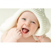 EJA Art cute_baby_boy_green_eyes-wide Without Frame Paper Poster Size 30X45 cms (With 12 Butterfly Free)