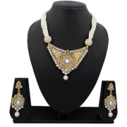 Meenaz Traditional Necklace Sets Jewellery Sets Gold Plated With Earrings For Women Girls NL119