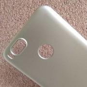 Калъф за Xiaomi Mi A1 силиконов гръб златен Lux