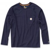 Carhartt Force Cotton Camisa de manga larga Azul Oscuro L