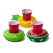 Felfújható úszó italtartó trópusi gyümölcsök 3db