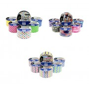 18 Roll Variety Pack Decorative Duct Style Tape (Polka-dot, Chevron, and Colorful Camouflage)