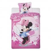 Спално бельо и калъфка за възглавница Minnie Mouse Why Hello! розови