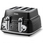 Delonghi Scultura 4-slice Toaster Free Delivery - Carbon Black
