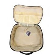 Must Visit Heart Print Apple Shape Women's Multi Purpose Makeup Bag / Vanity Pouch / Toiletry Travel Kit / Pouch Travel Toiletry Kit(Black)