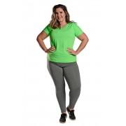 Camiseta Plus Size New Trip Verde Florescente